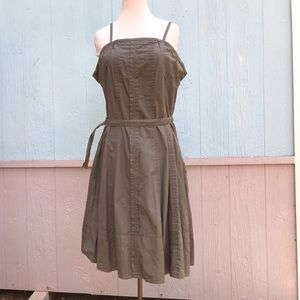 Vintage 90s a line army green military dress-xl